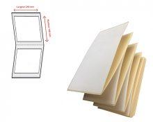 Etiquettes transfert thermique en velin - Ref 1361
