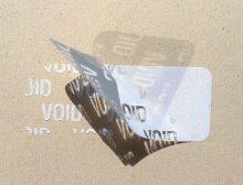 Etiquettes adhésives polyester VOID - Ref 16420