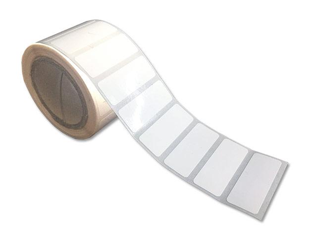 Etiquettes adhésives PE brillant blanches - Ref 16422