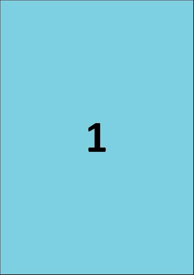 Etiquette bleue par A4 - Ref 252 B
