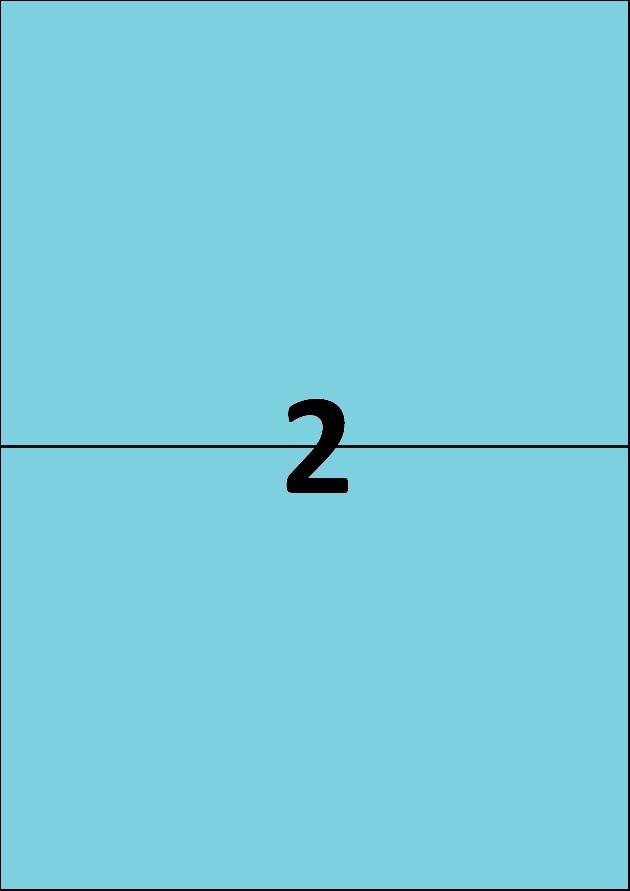 2 etiquettes bleues par A4 - Ref 261 B