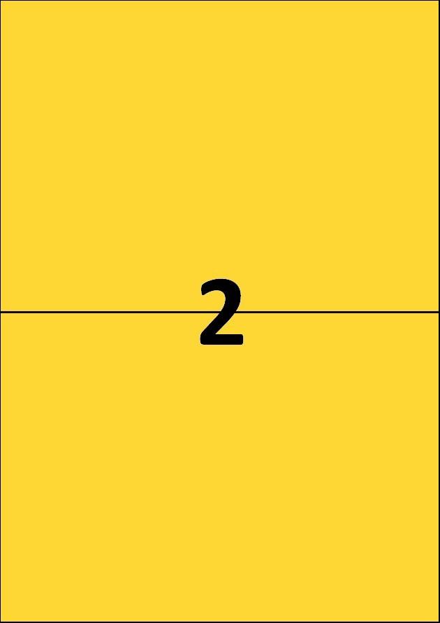 2 etiquettes jaunes par A4 - Ref 261 J
