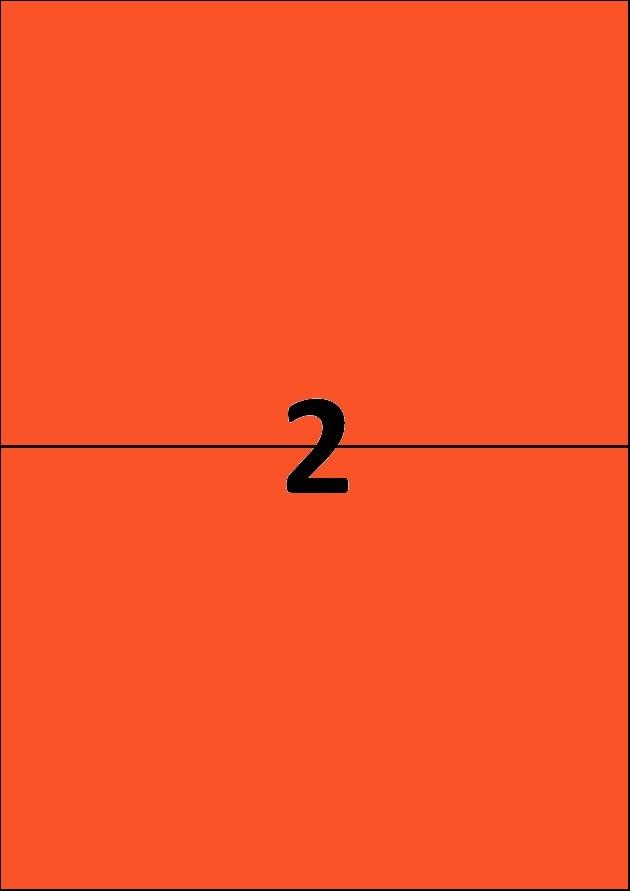 2 etiquettes rouges par A4 - Ref 261 R