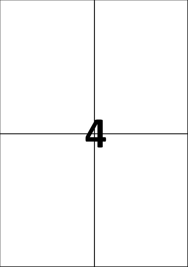 4 etiquettes blanches par A4 - Ref 556